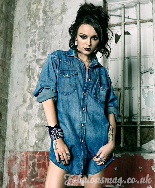 Cher Lloyd in Fabulous magazine