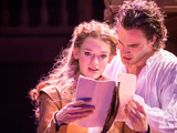Lucy Briggs-Owen as Viola and Tom Bateman as Will in Shakespeare in Love