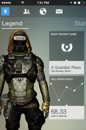 The Destiny companion app is free on iOS and Android