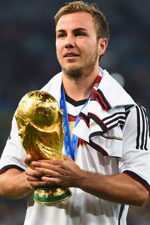 Mario Gotze with the World Cup