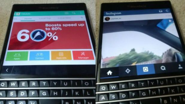 BlackBerry Passport running Android apps