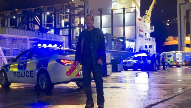 Kiefer Sutherland as Jack Bauer in 24: Live Another Day episode 12: '10:00PM - 11:00AM'