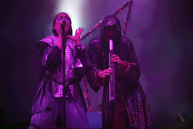 The Knife perform on stage