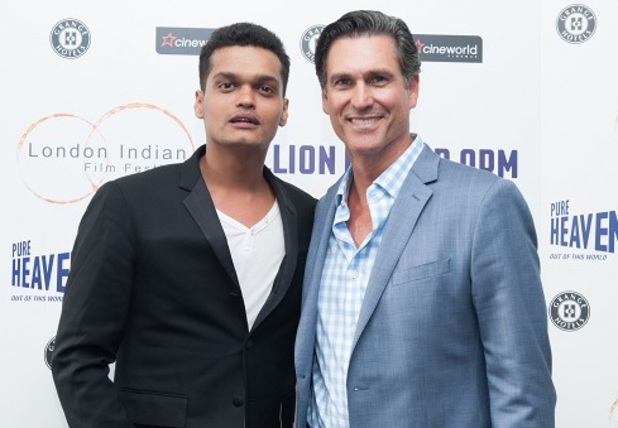 Madhur Mittal and Mark Ciardi attend the LIFF Million Dollar Arm premiere