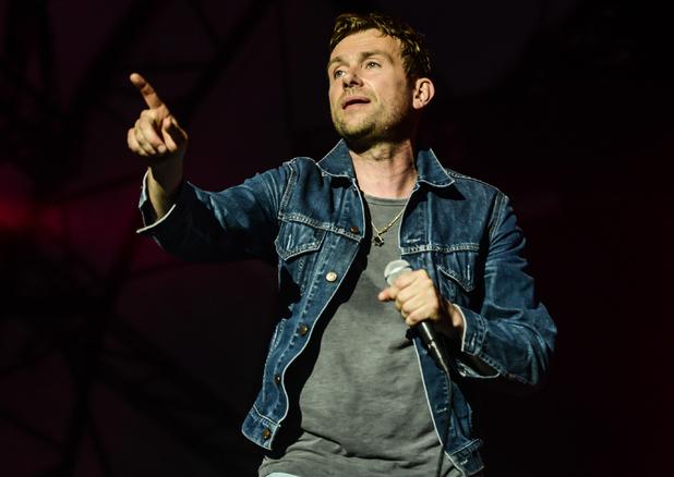 Damon Albarn performs on the Obelisk Arena stage