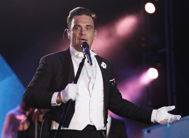 Robbie Williams performs at Rock in Rio Lisbon 2014.