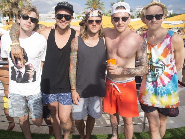 McBusted celebrate Danny Jones's stag do