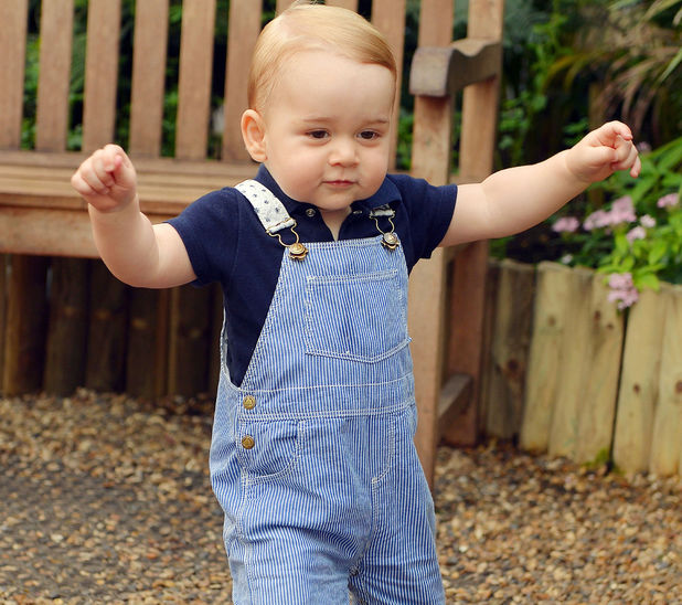 Prince George's first birthday portrait