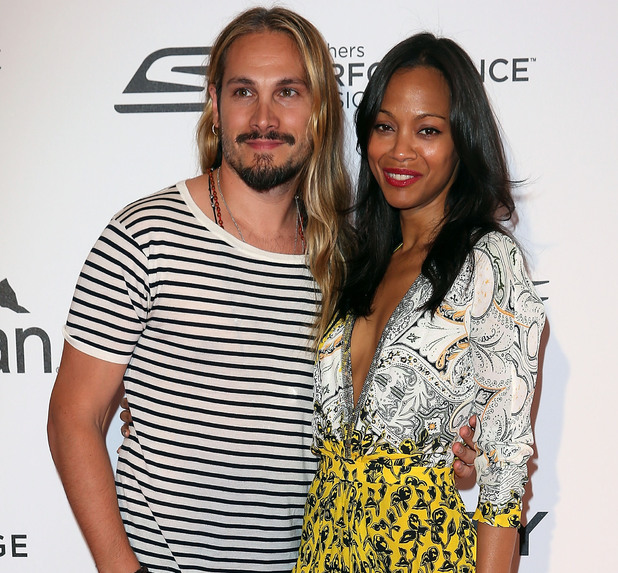 CAP D'ANTIBES, FRANCE - MAY 18: Zoe Saldana and Marco Perego attend the Participant Media's 10th Anniversary Celebration: Photocall at the 67th Annual Cannes Film Festival on May 18, 2014 in Cap d'Antibes, France. (Photo by Danny Martindale/WireImage)