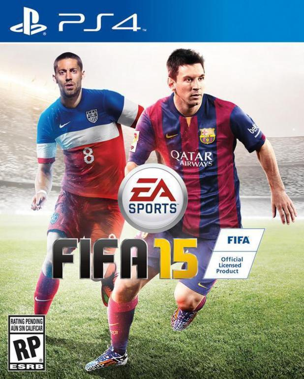 Clint Dempsey on the cover of FIFA 15