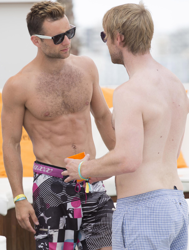 Harry Judd at Ocean Beach Ibiza