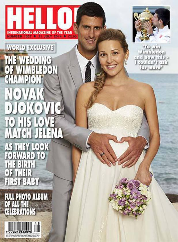 Novak Djokovic marries Jelena Ristic - Hello magazine Exclusive