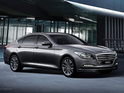 Auto maker recruits a stunt team to demo its autonomous Genesis saloon.