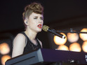 Kiesza performs on stage at MTV Crashes Plymouth