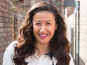 Hayley Tamaddon jokes that she has a plan to keep Andrea on the cobbles.