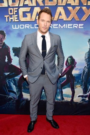 "HOLLYWOOD, CA - JULY 21: Actor Chris Pratt attends The World Premiere of Marvel's epic space adventure ""Guardians of the Galaxy,"" directed by James Gunn and presented in Dolby 3D and Dolby Atmos at the Dolby Theatre. July 21, 2014 Hollywood, CA (Photo by Alberto E. Rodriguez/Getty Images for Disney)"