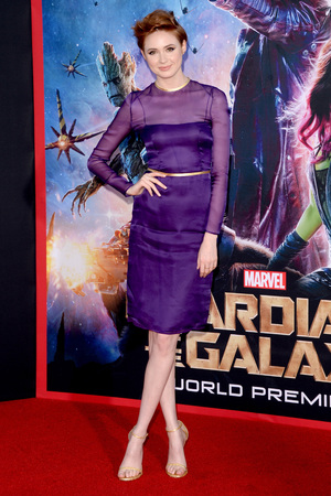 HOLLYWOOD, CA - JULY 21: Actress Karen Gillan attends the premiere of Marvel's 'Guardians Of The Galaxy' at the Dolby Theatre on July 21, 2014 in Hollywood, California. (Photo by Jason Merritt/Getty Images)
