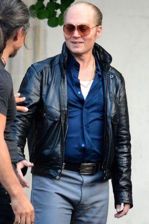 'Black Mass' on set filming, Lynn, Massachusetts, America - 21 Jul 2014 Johnny Depp 21 Jul 2014