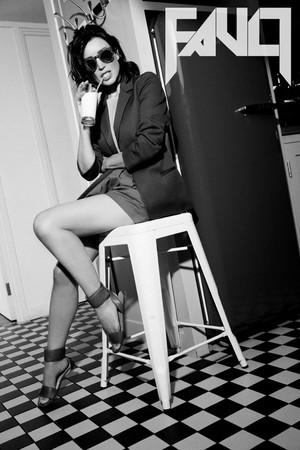 Dannii Minogue photoshoot for Fault Magazine
