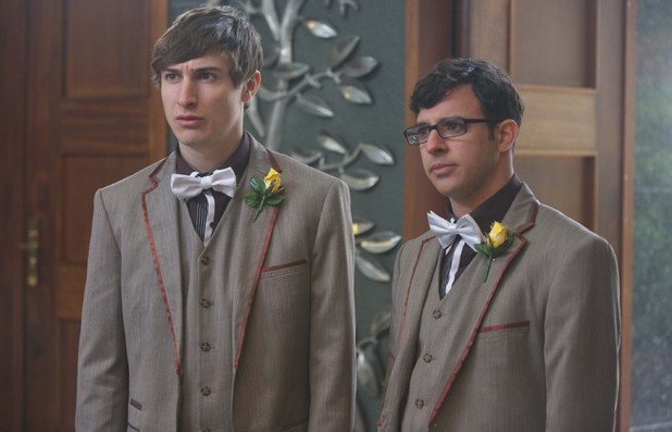 Tom Rosenthal as Jonny & Simon Bird as Adam in Friday Night Dinner