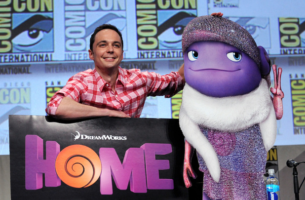Jim Parsons attends the DreamWorks Animation presentation during Comic-Con International 2014
