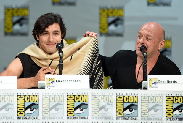 Alexander Koch and Dean Norris attend the CBS 'Under The Dome' panel & exclusive sneak preview during Comic-Con International 2014