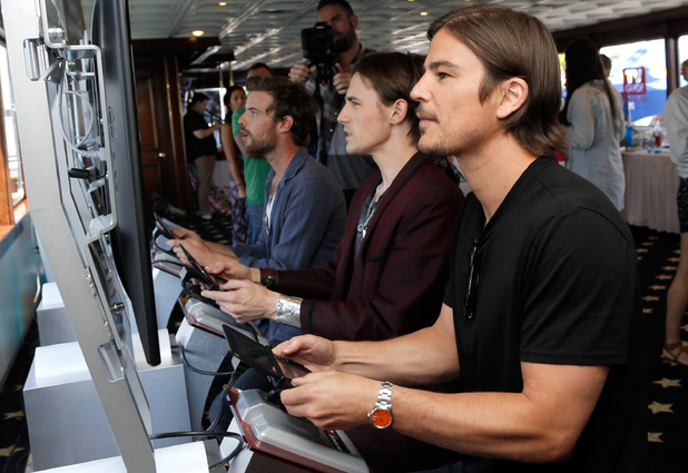 Josh Hartnett and Reeve Carney attend the Nintendo Lounge on the TV Guide Magazine Yacht during Comic-Con International 2014
