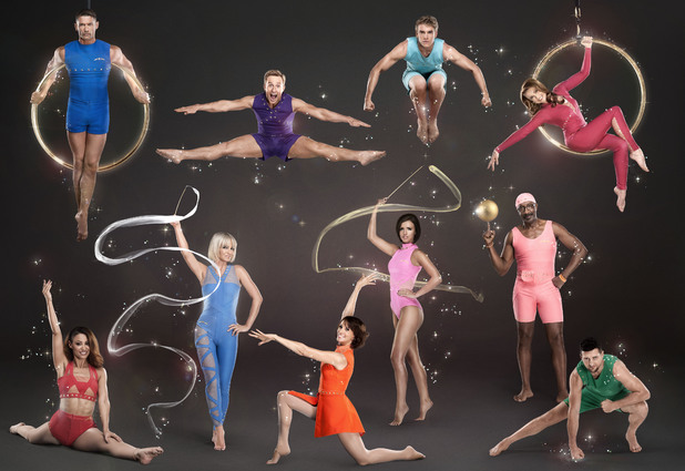 Tumble: Amelle Berrabah, John Partridge, Sarah Harding, Ian H Watkins, Andrea Mclean, Lucy Mecklenburgh, Bobby Lockwood, Emma Samms, Mr Motivator, Carl Froch