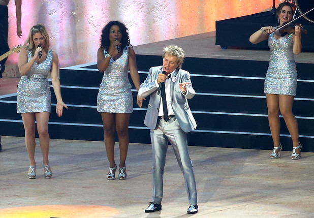 Rod Stewart performs during the Opening Ceremony of the 20th Commonwealth Games 2014