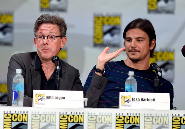 SAN DIEGO, CA - JULY 24: Writer/producer John Logan (L) and actor Josh Hartnett attend Showtime's 'Penny Dreadful' panel during Comic-Con International 2014 at the San Diego Convention Center on July 24, 2014 in San Diego, California. (Photo by Ethan Miller/Getty Images)