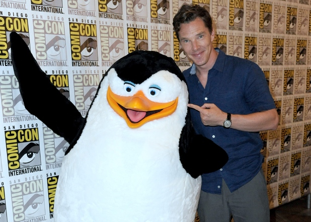 "Benedict Cumberbatch attends ""The Penguins of Madagascar"" press line on Day 1 of Comic-Con International 2014"