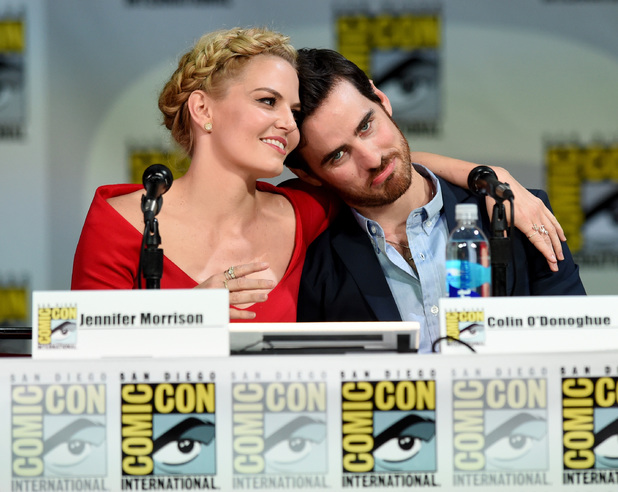 Jennifer Morrison, Colin O'Donoghue and attend ABC's 'Once Upon A Time' panel during Comic-Con