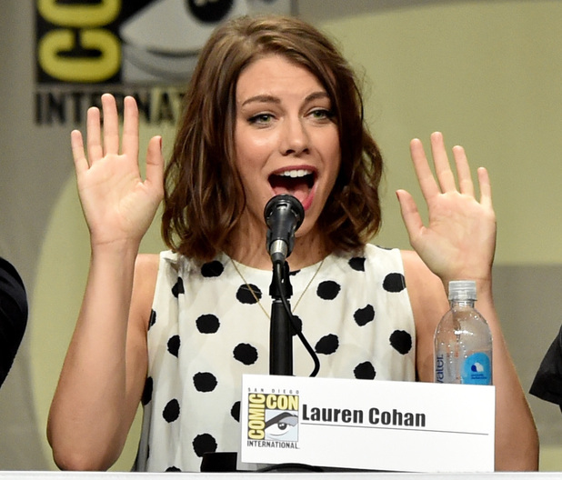 Lauren Cohan attends AMC's 'The Walking Dead' panel during at Comic-Con International 2014 - Day 2