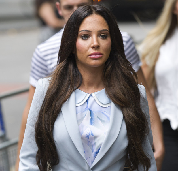 Monday, July 21: Tulisa Contostavlos arrives at Southwark Crown Court