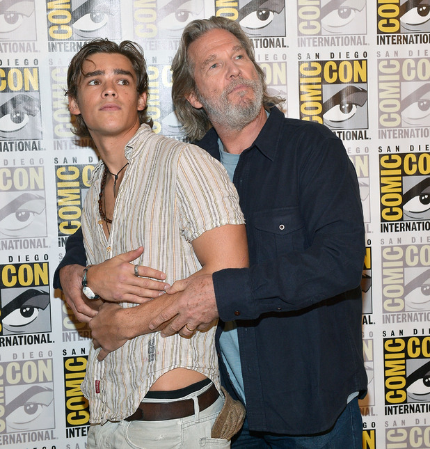 Jeff Bridges and Brenton Thwaites attend The Weinstein Company Presents 'THE GIVER' At Comic-Con 2014