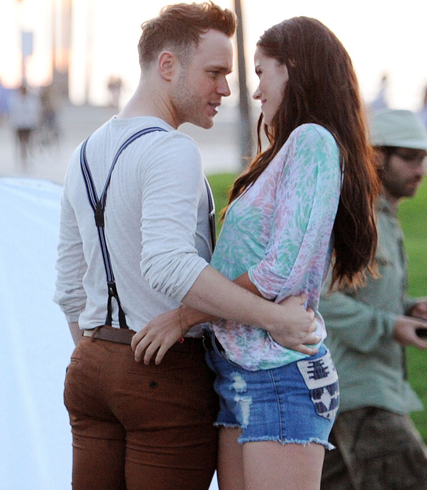 Olly Murs on a music video shoot