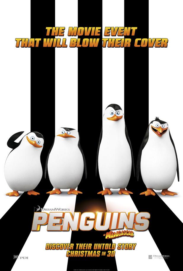 First poster for Dreamworks Penguins of Madagascar movie.