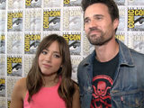 Chloe Bennet and Matt Dalton at Comic-Con 2014