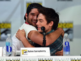 Tyler Posey and Dylan Sprayberry attend MTV's 'Teen Wolf' panel during Comic-Con International 2014