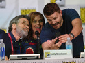 Stephen Nathan, Emily Deschanel and David Boreanaz attend FOX's 'Bones' panel during at Comic-Con International 2014 - Day 2