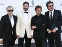 Roger Taylor, Nick Rhodes, Simon Le Bon and John Taylor of Duran Duran arrive at amfAR's 20th Annual Cinema Against AIDS 2013