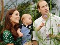 Prince William and the Duchess of Cambridge pay a visit to the Natural History Museum.