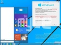 Windowed apps and the new Start menu feature in the latest Windows 9 leak.