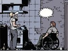 Hawkeye is deaf in Matt Fraction and David Aja's sign-language issue