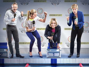 The Commonwealth Games 2014 presenters: Gary Lineker, Gabby Logan, Hazel Irvine & Clare Balding