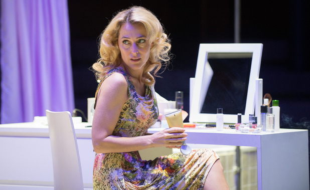 Gillian Anderson as Blanche DuBois in A Streetcar Named Desire performed at the Young Vic theatre in London
