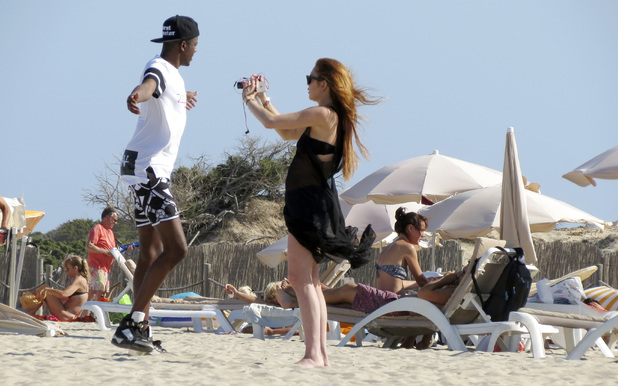 Lindsay Lohan continues enjoying her holiday on the Spanish island of Ibiza.