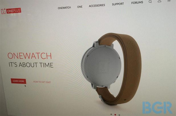Website listing for OnePlus' OneWatch