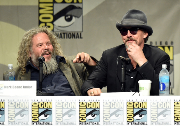 Actors Mark Boone Junior and Tommy Flanagan attend FX's 'Sons of Anarchy' panel during Comic-Con