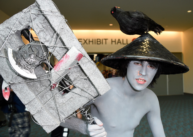 SAN DIEGO, CA - JULY 26: Cosplayer Matthew Pine, from British Columbia, attends Day 3 of Comic-Con International 2014 on July 26, 2014 in San Diego, California. (Photo by Frazer Harrison/Getty Images)